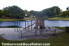 this playground is provided for the use and enjoyment of Timbercreek's younger residents