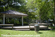 enjoy your picnic at the gazebo area with its picturesque view of the lake